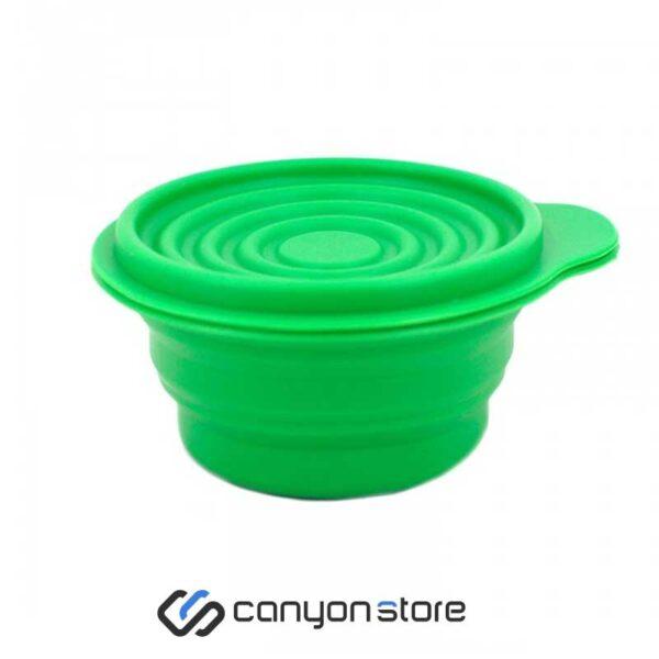 ظرف سیلیکونی تاشو 500 سبز