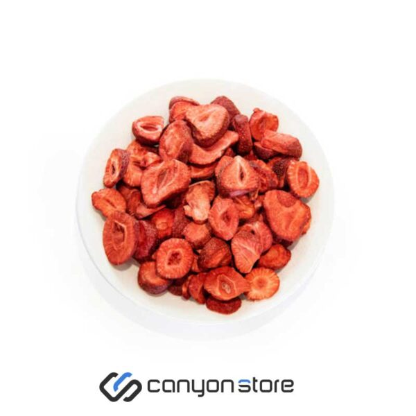 غذای خشک انجمادی - کرانچ میوه توت فرنگی-1