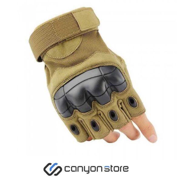 دستکش فنی نیم انگشت - Tactical Gloves -خاکی