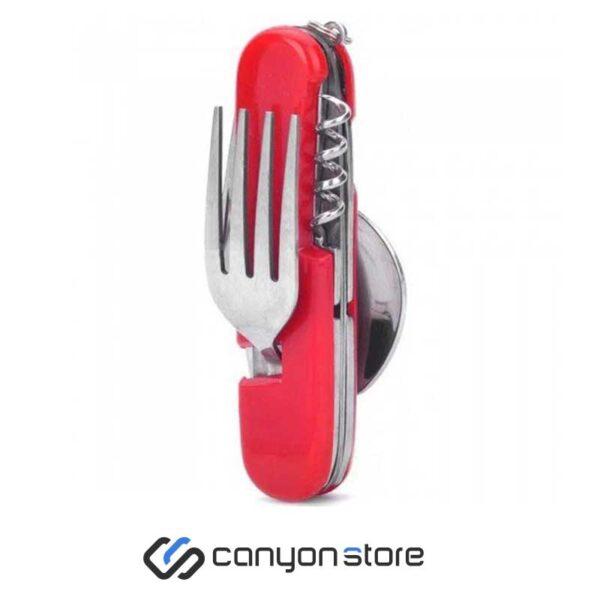 قاشق و چنگال چندکاره - HM001-قرمز