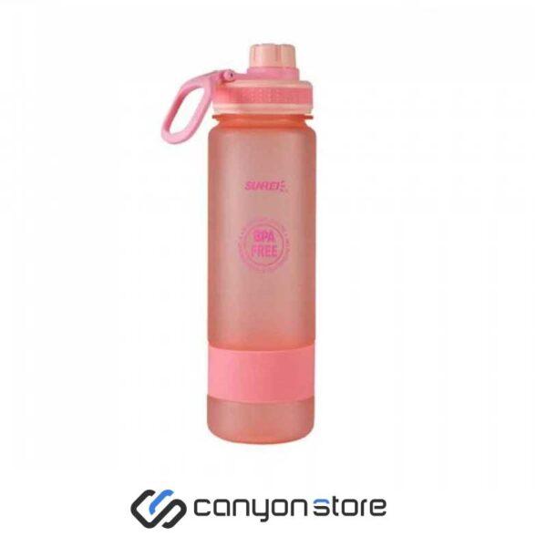 بطری آب 900 میلی لیتری سانری-صورتی